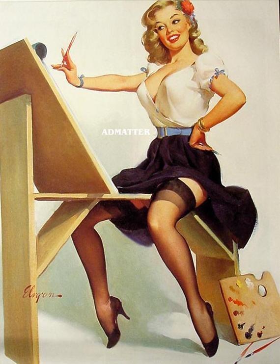 Fascination 1952 Gil Elvgren Vintage Pin-Up Sexy Girl