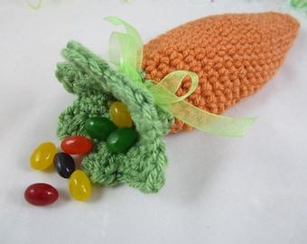 Crochet Easter Carrot Treat Bag, Easter Goodie Bag, Easter Basket Filler by CROriginals