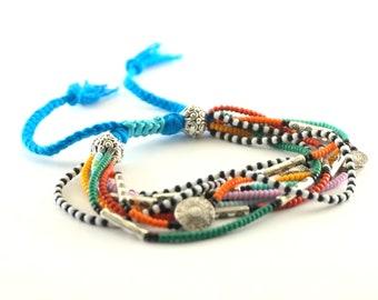 Friendship bracelet Colorful seed beaded boho bracelet Stacking bracelet Hippie bracelet Everyday bracelet womens bracelet Bohemian bracelet