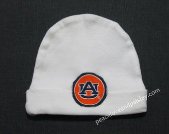 Auburn Tigers Baby Hat, Tigers Baby, Auburn Baby, Baby Tigers, Baby Shower Gift, New Baby Gift, New Dad Gift