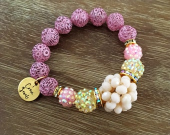 Stretch Bead Bracelet – Large Bead Bracelet Gold Bracelet, Our Top Selling Bracelet for Spring 2018