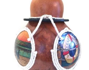 Nautical Gourd Art Jug