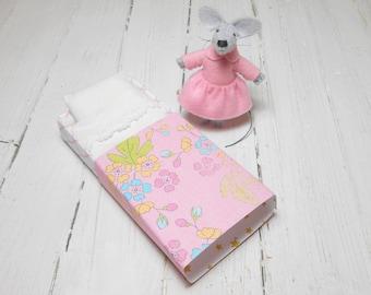 Hand made dolls felt animals matchbox mouse felt mouse stuffed mouse pre teen gift gift for kids pink