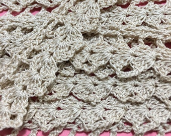 Antique Hand Crocheted Lace Trim