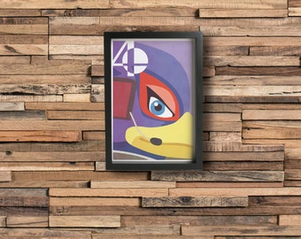 FALCO poster - Inspired by Super Smash Bros.