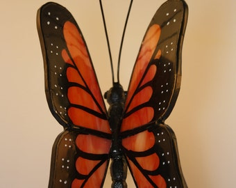 Hand-Painted Suncatcher Stained Glass Monarch Butterfly - Made to Order (MON002)