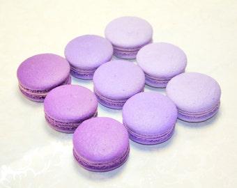 Gourmet French Macaron, Purple Ombre macaron - 3 dozens
