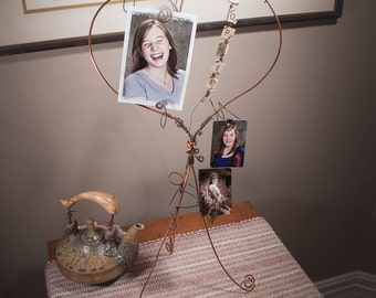 Best Friend | Picture Frame |  Copper Wire Heart Frame | daughter | Friends | Sister | Mom | Sophia | Parent | Brother | Family | Seniors