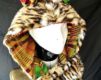 spotted lynx spirit hood