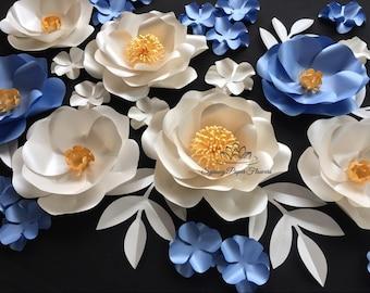 ITS A BOY Paper flower backdrop/Paper flower wall/Wedding Backdrop/Backdrop /Baby shower/Baby shower/Sweet table/Christening /Dessert table