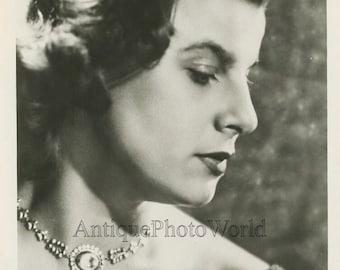 Germany opera singer Irmgard Seefried antique photo