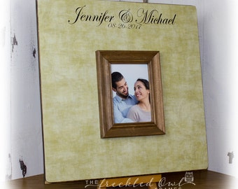 Large Wedding Guest Book Alternative, Wedding Signature Frame, Personalized Guestbook Wedding Picture Frame, GuestBook Sign, 16 x 16 inch