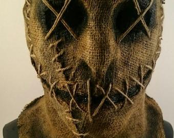 Handmade Halloween Horror Burlap Mask