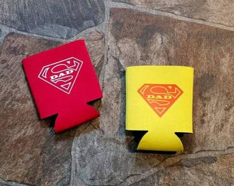 Super Dad Can Cooler - Gifts for Men - Beer Can Cooler  - Fathers Day Gift - Birthday Gifts - Can Cooler - Fishing Can Cooler - Fathers Day