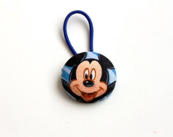 Giant Mickey Mouse Fabric Covered Button Pony Holder