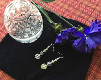 Nice pair of earrings with vintage beads