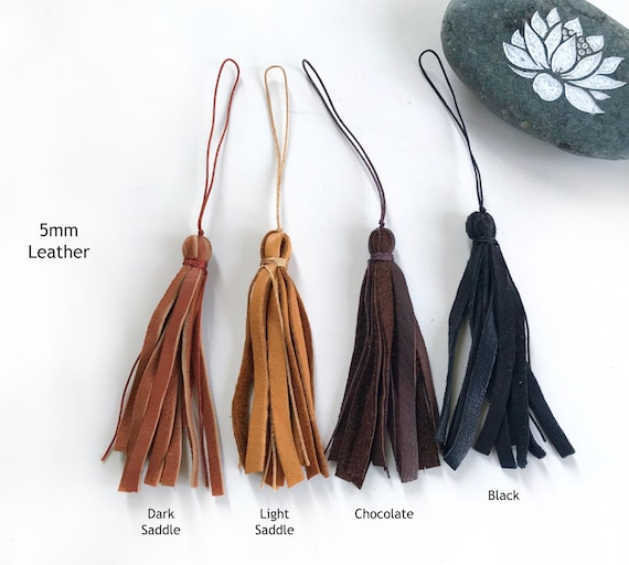 Leather Tassel For Your Mala Beads,  Add A Leather Tassel, Unique Mala Beads, Change The Tassel On A Mala