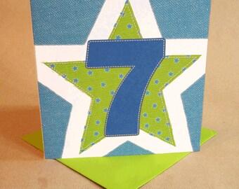 Age 7 Boy Birthday Card