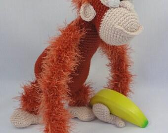 Amigurumi Crochet Pattern - Oscar the Orangutan - English Version
