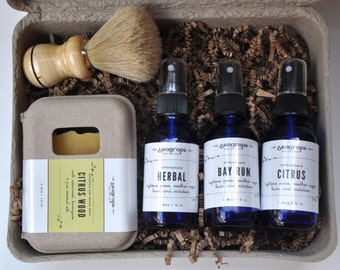 Luxurious Gift Set for Him. Small batch. 100% Natural. Cold Process. Men's  Gift Set. Aftershave Set.