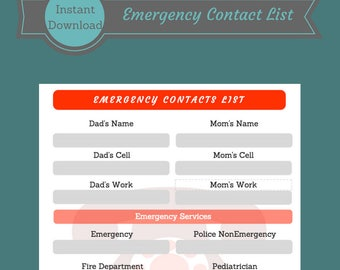 emergency contacts for babysitter