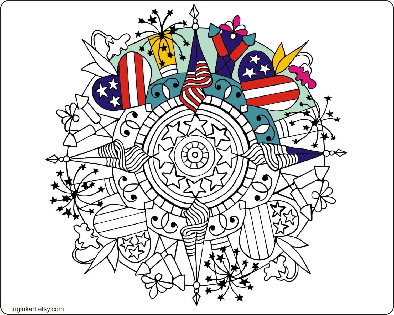 Bonito El 4 De Julio Para Colorear Componente - Ideas Para Colorear ...