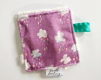 Purple Rain cloud crinkle paper, girl crinkle paper, sensory toy baby paper, rainbow baby nursery, baby gift, baby toy, baby shower gift,