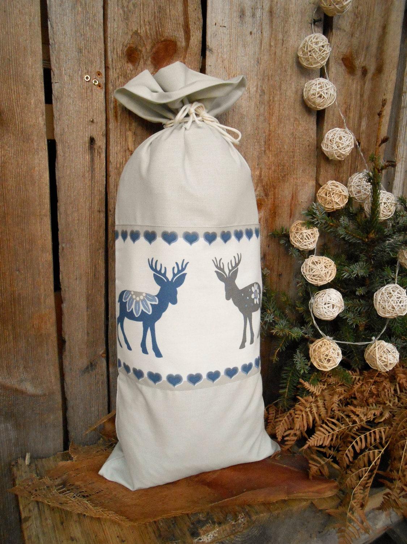 Xmas Geschenk Tasche Xmas Santa Sack Weihnachten Geschenk