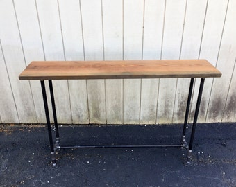 Packard Table Reclaimed Wood Industrial Console Table Entry Table  Pub Table Wood Farmhouse Table Outdoor Patio Table Bar Table Accessory
