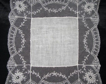 Net Lace Hankie Wedding Cream Handkerchief Lace Net Handkerchiefs Bridal Hankies