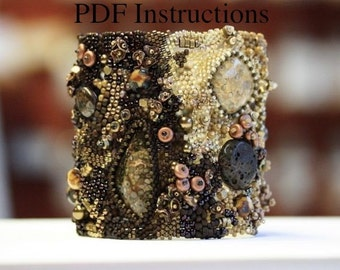 Bracelet tutorial. Advanced Instructions for Freeform Peyote Stitch Bracelets. Beadwork PDF.