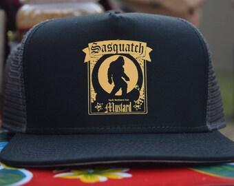 Sasquatch Mustard Trucker Hat