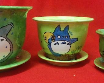 Totoro - Planter Pots - Set of 3