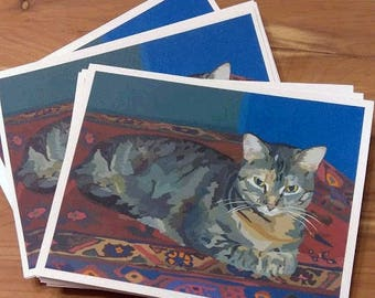 Set of 12 Marley the Cat Blank Note Cards with Envelopes