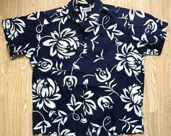 Vintage 1950s 1960s Shaheen Hawaiian Cotton Shirt