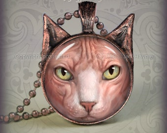 NH1 Sphynx Hairless Cat pendant