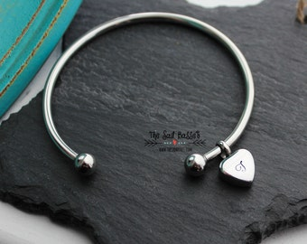 Personalized Cremation Urn Bangle | Hand Stamped Cremation Jewelry | Cremation Urn Bracelet | Memorial Jewelry | In Loving Memory | Pet