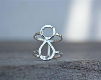 Sterling Goddess Ring, Sterling Modern Ring, Modern Ring, Minimalist Ring, Minimalist, Goddess jewelry, Goddess, Silver Ring, Sterling Ring