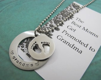 Monogram name necklaces etsy au grandma to be gift gift for new grandma baby announcement grandparent aloadofball Image collections