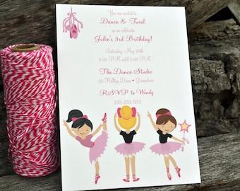 Ballet Party Invitation / Ballerina Party Invitation / Kids Ballet Birthday Party Invitation / Dance Party Invite / Birthday Party