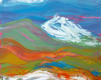 Cascadia 1 original abstract landscape oil painting