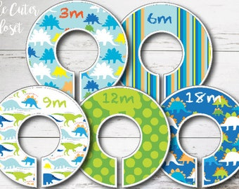 Baby Closet Dividers -Dino Bright