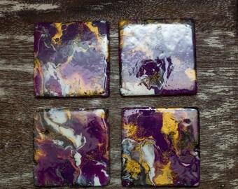 Resin & Acrylic Paint Coasters