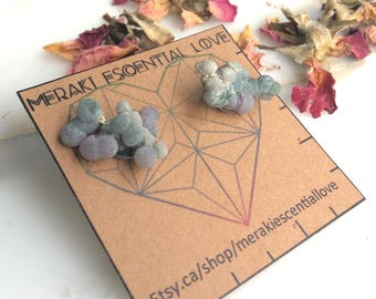 Grape Agate Earrings. Botryoidal Chalcedony Earring Studs. Boho Jewelry. Unique Jewelry.