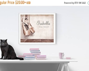 FLASH SALE til MIDNIGHT Vintage Ballet Slippers, Photo Print, Girls Room Decor, Girls Nursery, Wall Art, Art decor, Girls room Ideas,