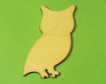 APPLIQUE Baltic wood: OWL 20 * 50 mm, 1.5 mm thick.