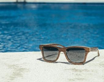 Sunglasses Wooden, Wayfarer Shape Wooden Eyewear, Polarized Man Woman Sunnies | Handmade