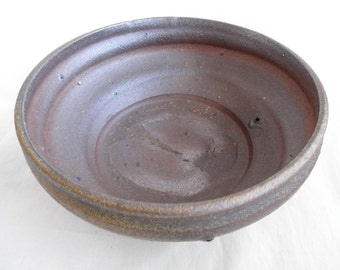 Woodfired Spiral Serving Bowl with shell marking