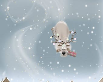 Steer Clear - Quirky Reindeer Christmas Card