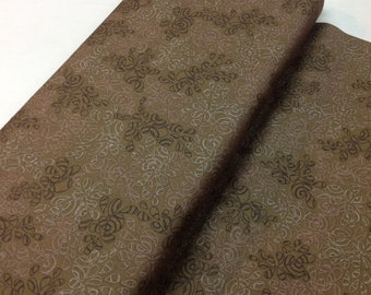 Nature's Elements, BROWN Coffee Liqueur Cotton Fabric, sold by the 1/2 yard, BLENDER by Art Gallery, NE-107  Quilting, Tonal, tone on tone
